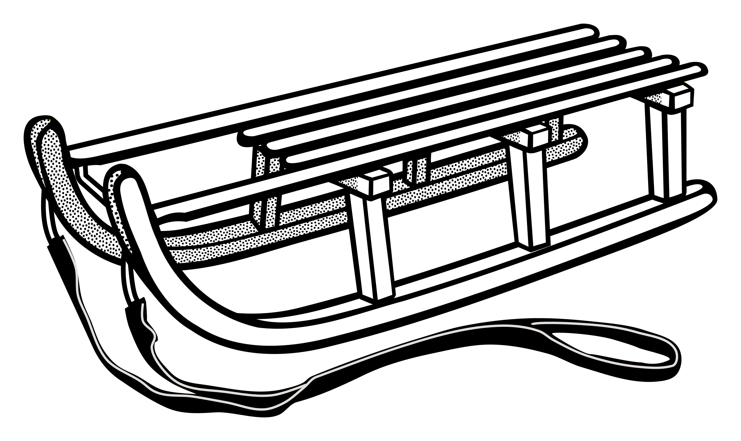 Sled clipart black and white clipart images gallery for free.