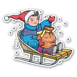 sledding clipart.