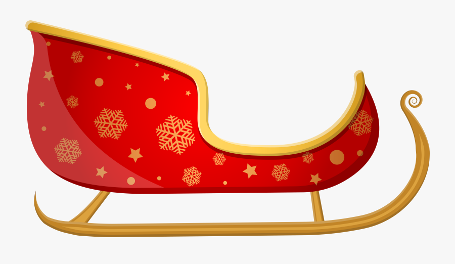 Santa Sleigh Png Clipart Background.