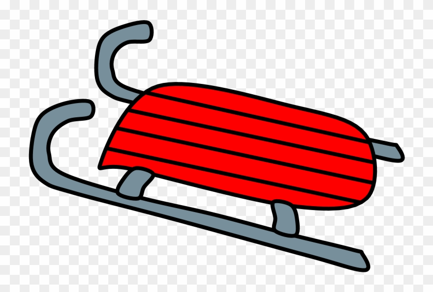 Sled, Red, Png Clipart (#4083898).