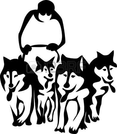 616 Sled Dog Stock Vector Illustration And Royalty Free Sled Dog.