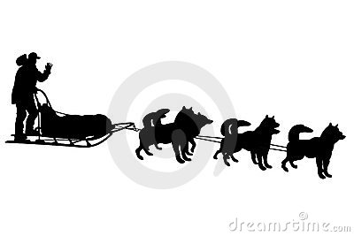 Sled Dog Team Clipart.