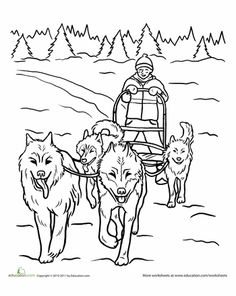 Sled Dog Race Clipart Clipground