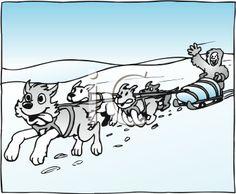 Dog Sled Clipart.