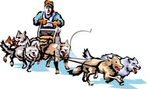 728 Sled free clipart.