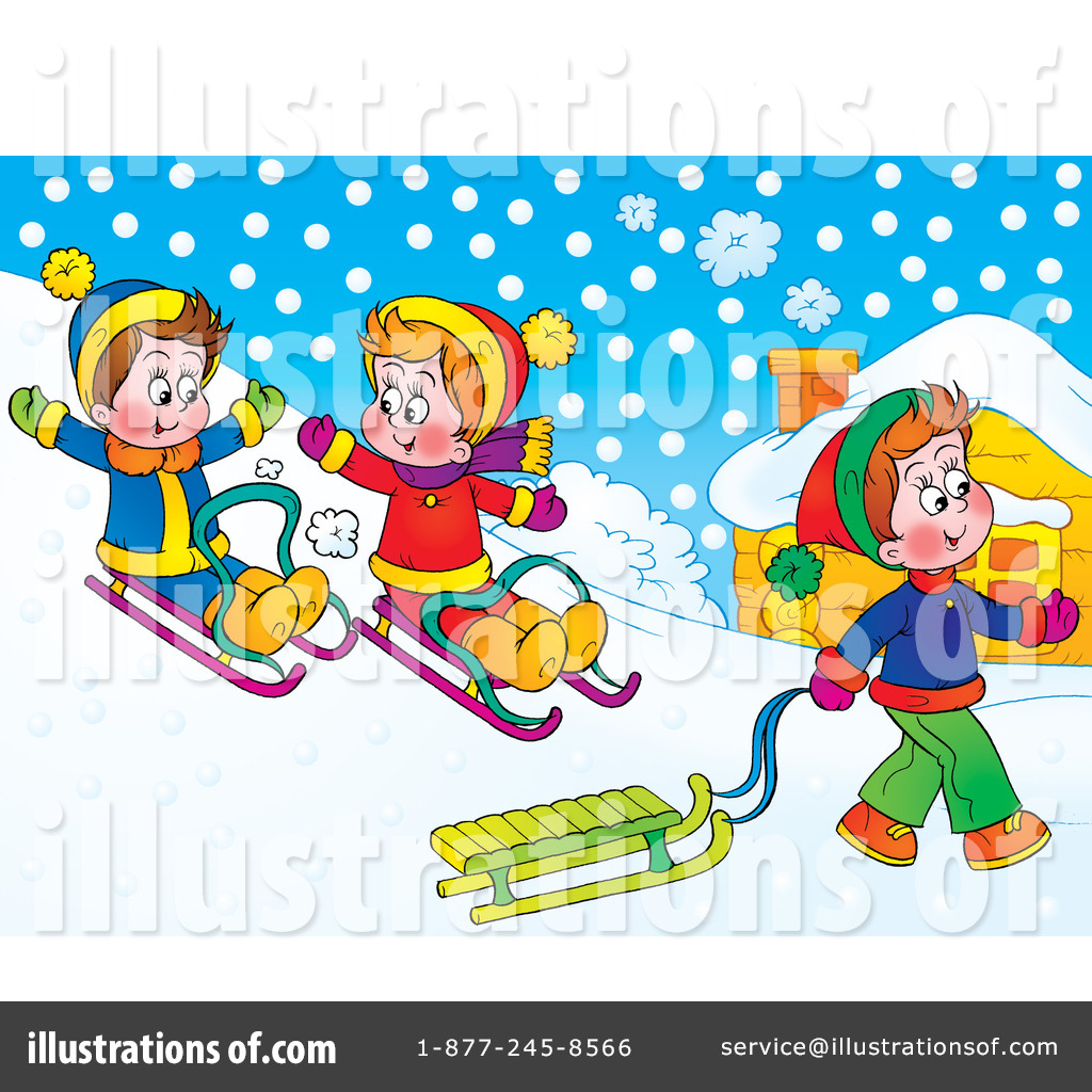 sledding clipart clipground
