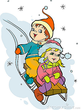 sledging clipart clipground