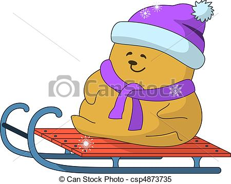 Clipart Vector of Teddy.