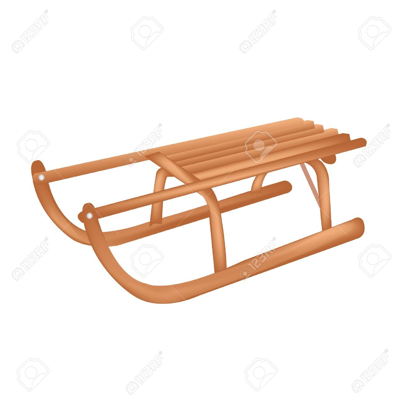 Wooden Sledge Royalty Free Cliparts, Vectors, And Stock.