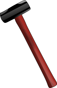 Red sledge hammer Clipart, vector clip art online, royalty free.