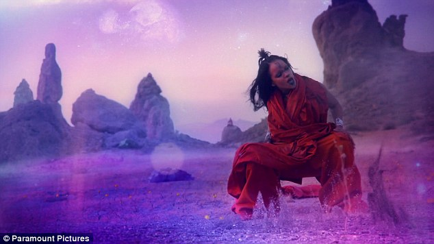 Rihanna transforms into an alien for Sledgehammer music video for.