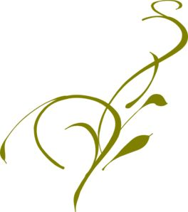 I want a flourish leaf/vine border or frame clip art that is sleek.