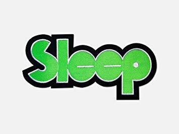 Sleep Logo Embroidered backpatch backshape Back Patch.