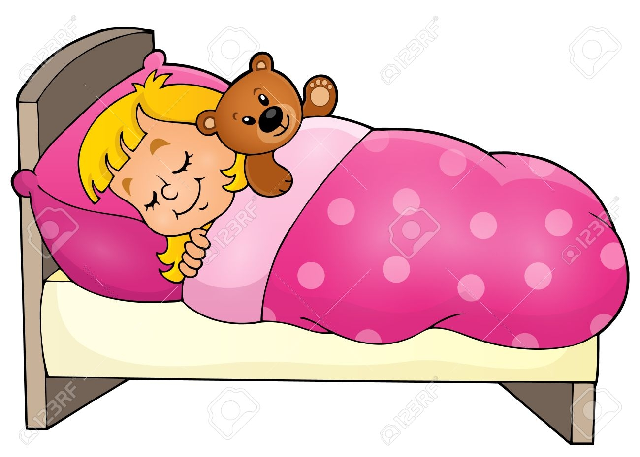 Sleep clipart Beautiful Sleeping Child Theme Image Royalty.