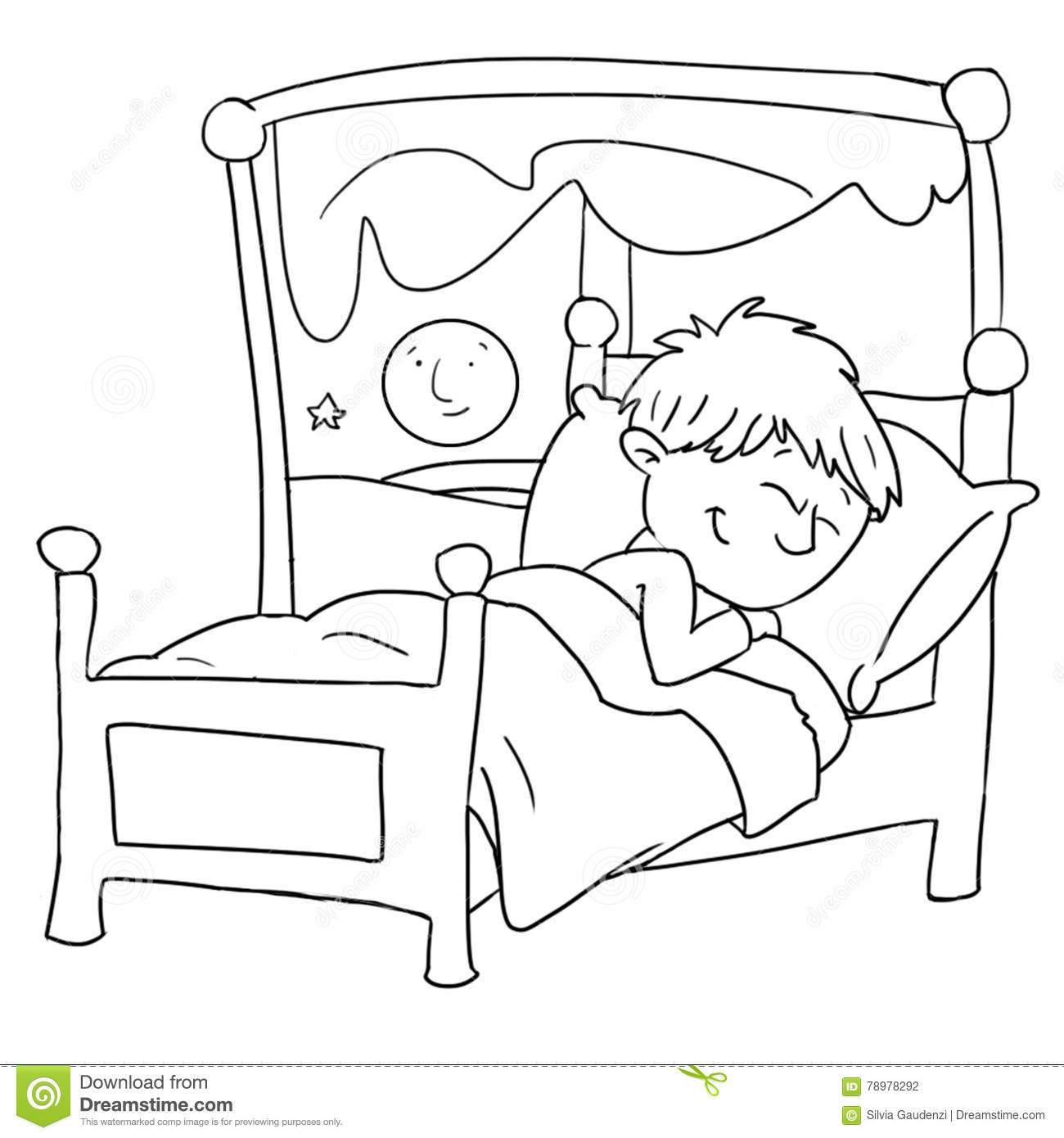 Sleeping child clipart black and white 1 » Clipart Portal.