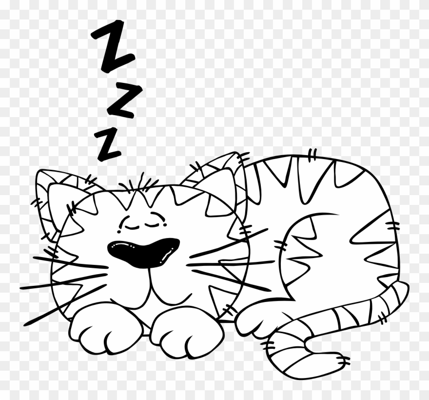 Black And White Clipart Of Cat.
