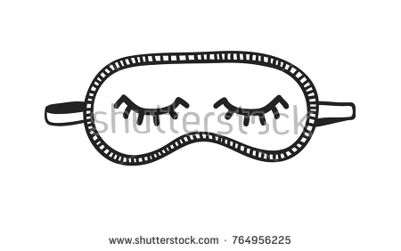 Eye Mask Clipart Black And White.
