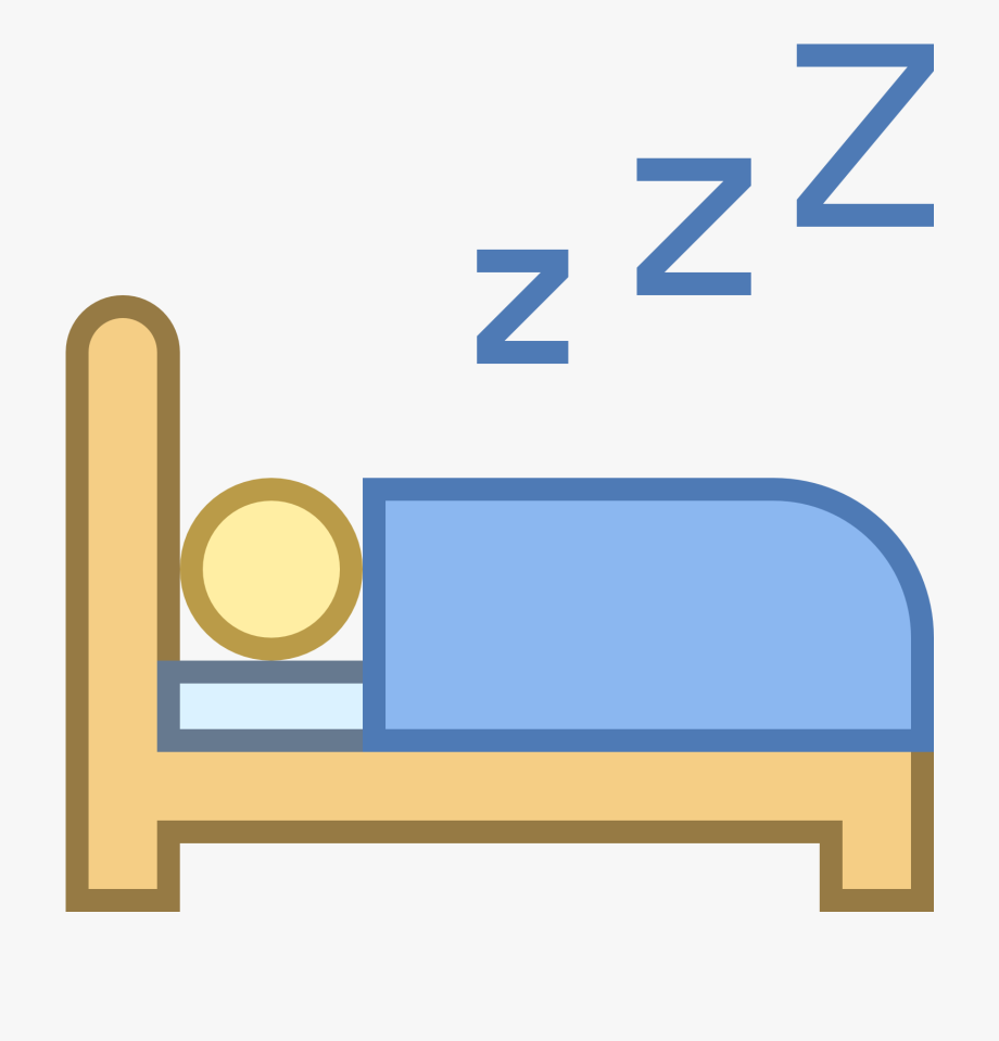 Sleeping Clipart Icon.