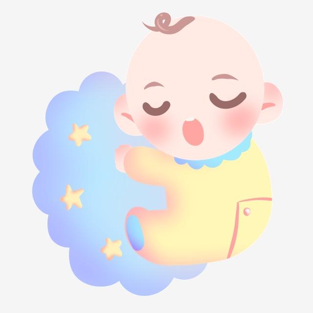 Sleeping Baby Illustration, Sleeping Baby, Pillow, Star PNG.