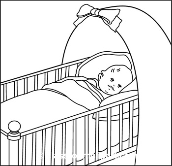 Sleeping Baby Clipart Black And White (109+ images in.