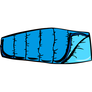 Blue sleeping bag clipart cliparts of free.