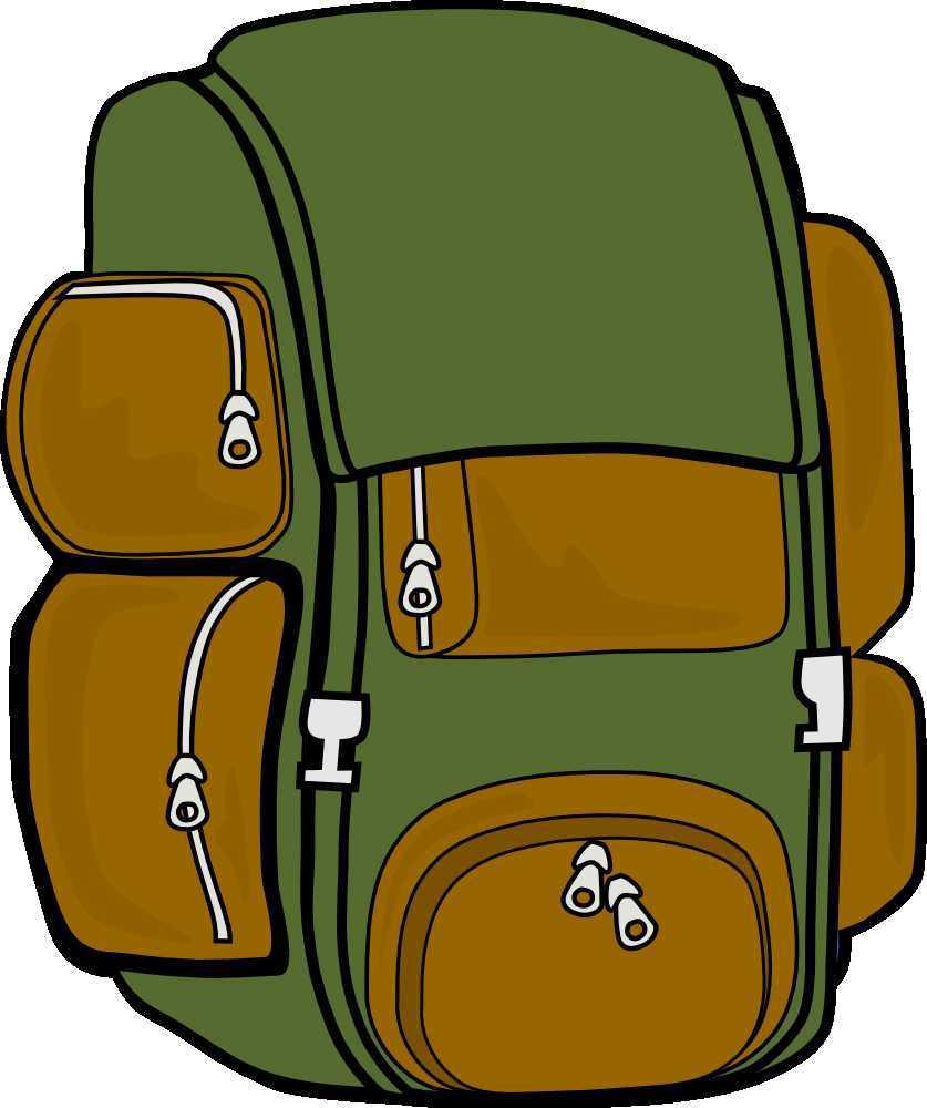 Backpack clipart sleeping bag, Backpack sleeping bag.