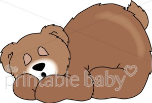 Sleeping Bear Clipart.