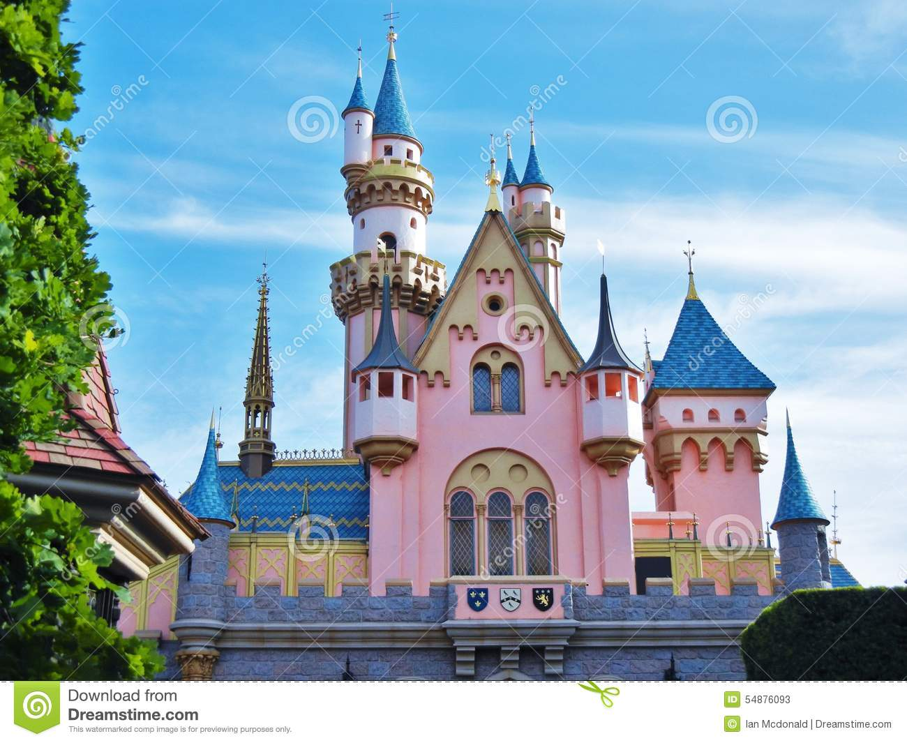 Sleeping Beauty's Castle Editorial Stock Photo.