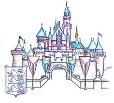 Sleeping Beauty Castle Clipart.