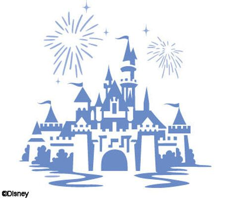 Sleeping Beauty Castle Clip Art.
