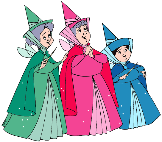 Flora, Fauna and Merryweather Clip Art.