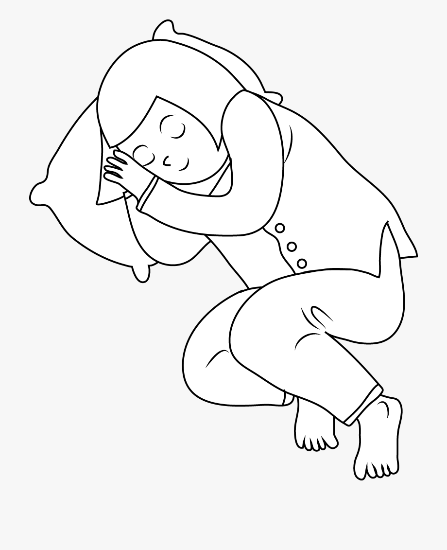 Kids Sleeping Clipart Black And White.