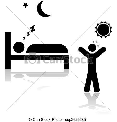 Clipart Black People Waking Up.