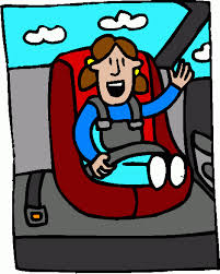 Kid in car clipart.