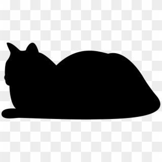 Cat Silhouette PNG Transparent For Free Download.