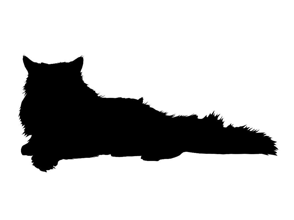 Free Cat Sleeping Silhouette, Download Free Clip Art, Free.