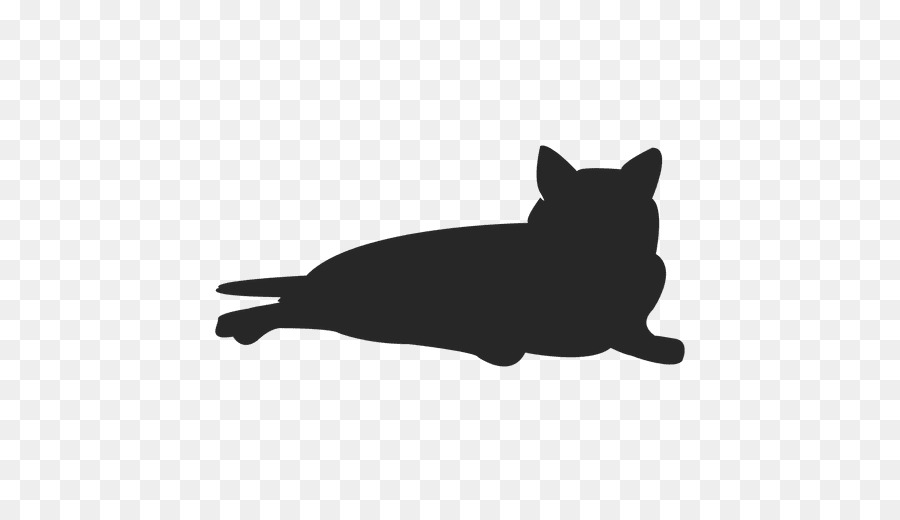 Black cat Silhouette Kitten Clip art.