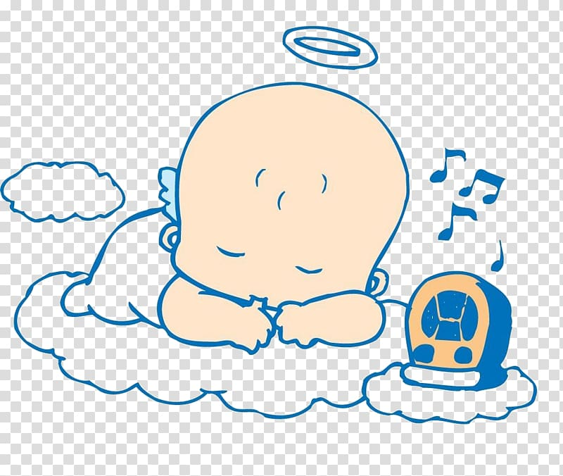 Sleep Child Infant Cartoon, Sleeping baby transparent.