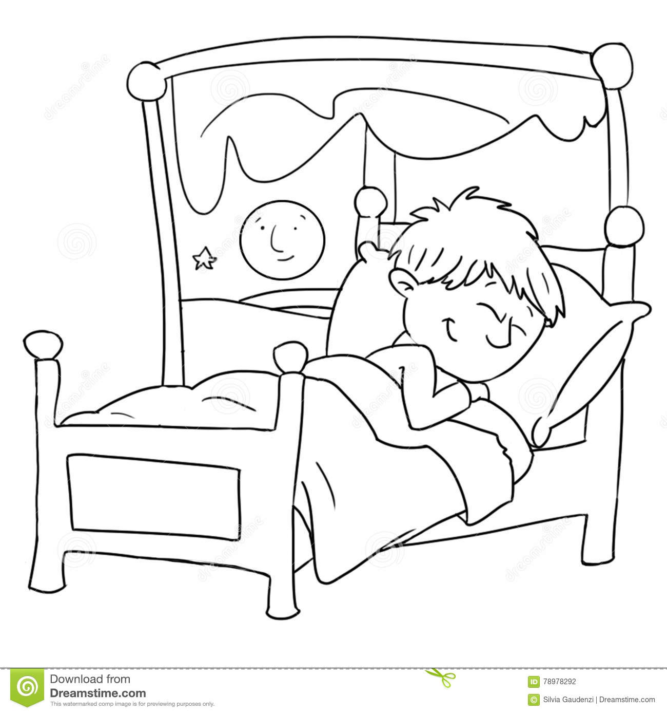Child sleeping clipart black and white » Clipart Station.