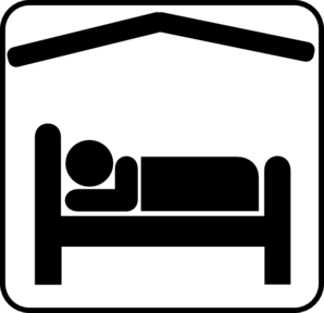 Hotel Motel Sleeping Accomodation Clip Art.