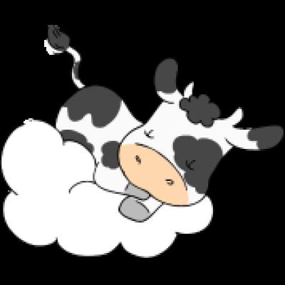 Sleeping Cow by FluffyFeelingscom PNG.