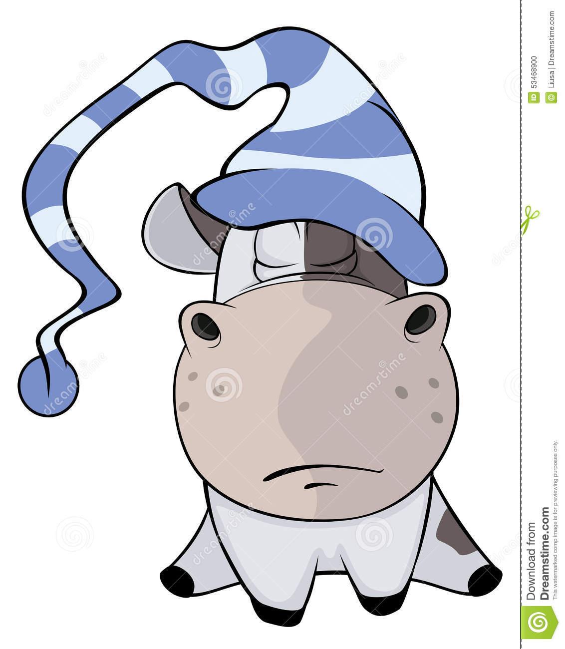A Small Cow. Cartoon Stock Vector.