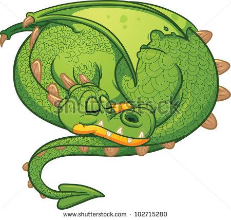 Sleeping Dragon Clipart.