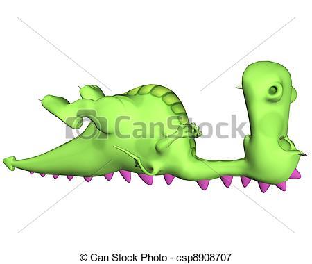 Stock Illustrations of Sleeping Dragon.