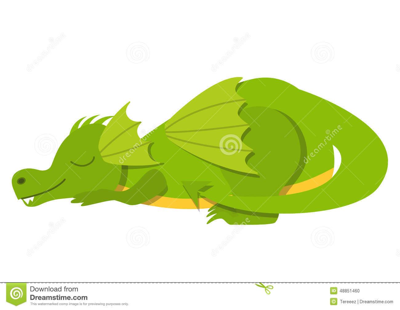 Sleeping Dragon Stock Illustrations.
