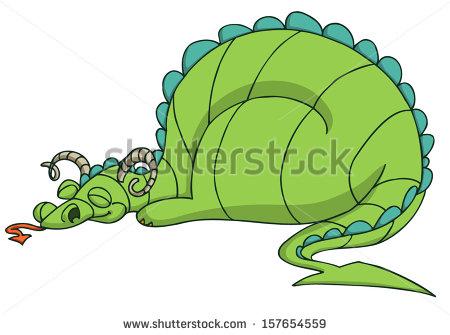 Sleeping Dragon Stock Images, Royalty.