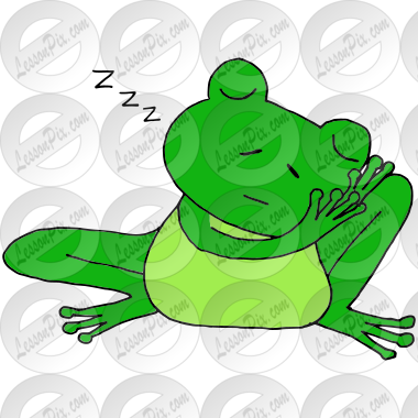 Sleepy Frog Picture for Classroom / Therapy Use.