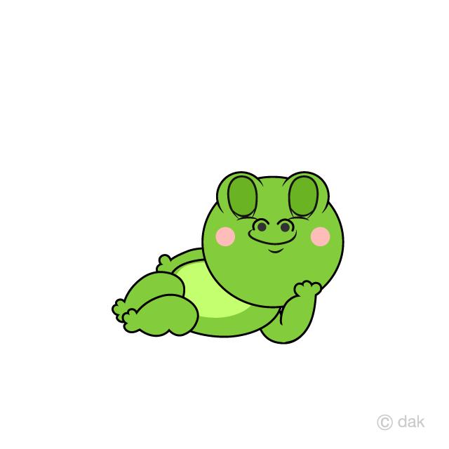 Free Sleeping Frog Cartoon Image|Illustoon.