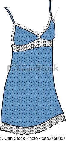 Vectors Illustration of ladies sleeping gown csp2758057.