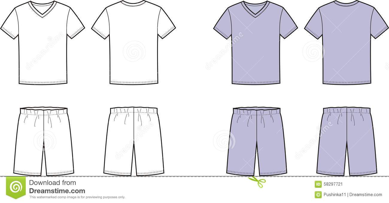 Sleep Clothes Stock Vector.